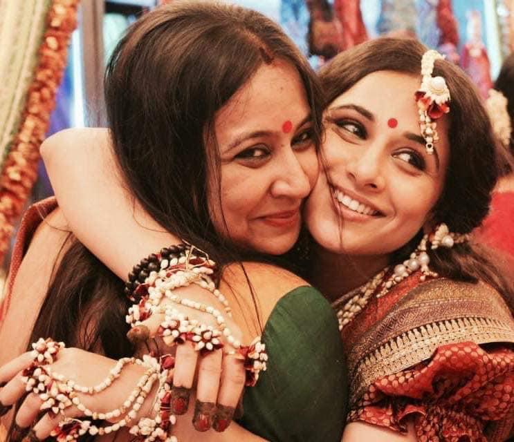 Priya Balan with her mother and sister Vidya Balan