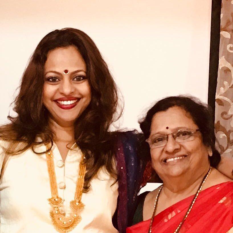 Sarita Birje with her mother