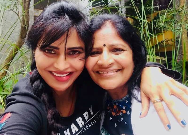 Shree Rapaka with her mother