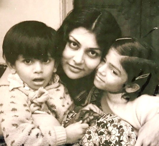 Subhra Sen with her children