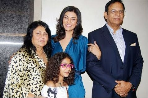Subhra Sen with her family