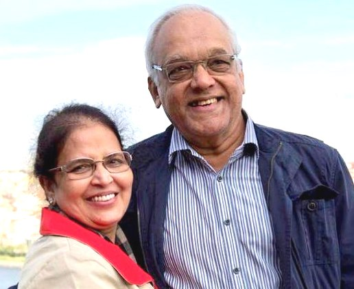 Vrinda Rai with her husband Krishnaraj Rai