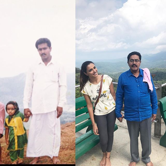 Akshara Gowda with her father