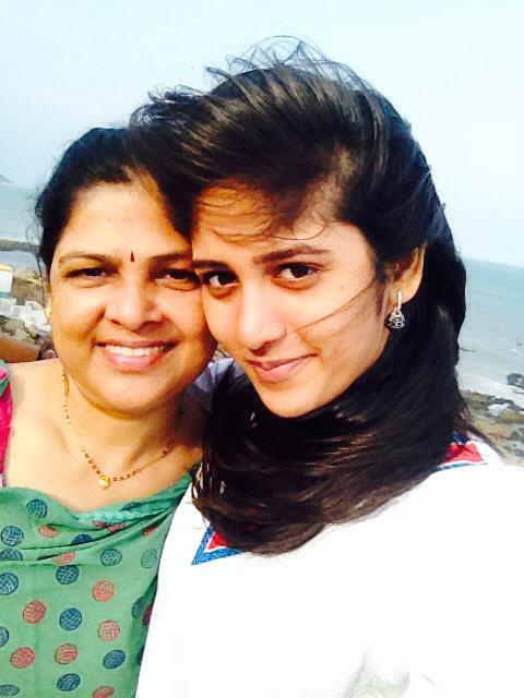 Chandini Chowdary with her mother