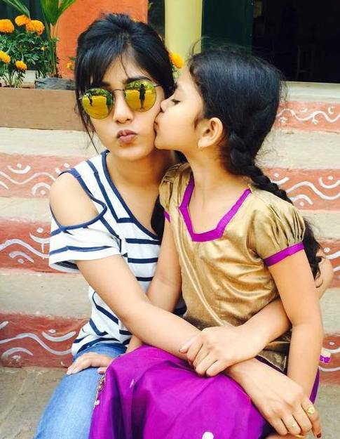 Chandini Chowdary with her sister
