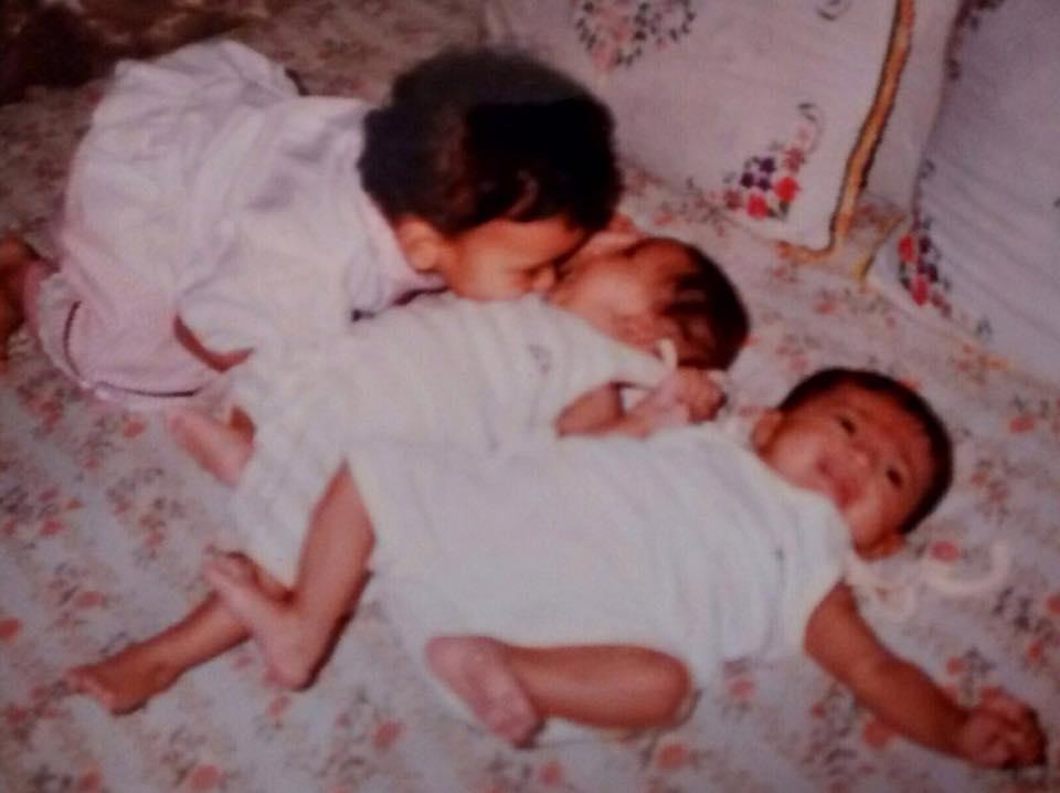 Hebah Patel childhood pic
