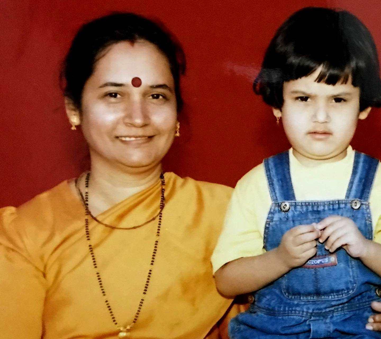 Riya Sharma with her mother