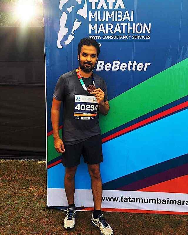 Gautam Kitchlu in Tata Mumbai Marathon