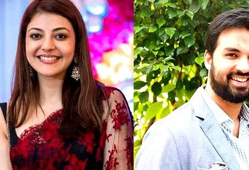 Gautam Kitchlu with Kajal Aggarwal