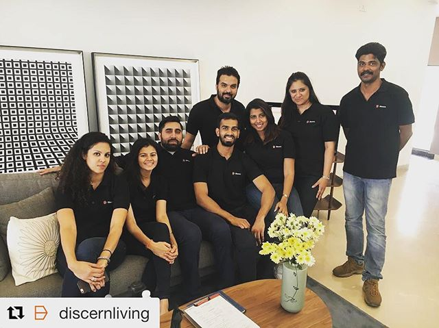 Gautam Kitchlu with his Discern Living team
