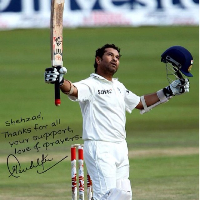 Shehzad Deol favorite cricketer is Sachin Tendulkar