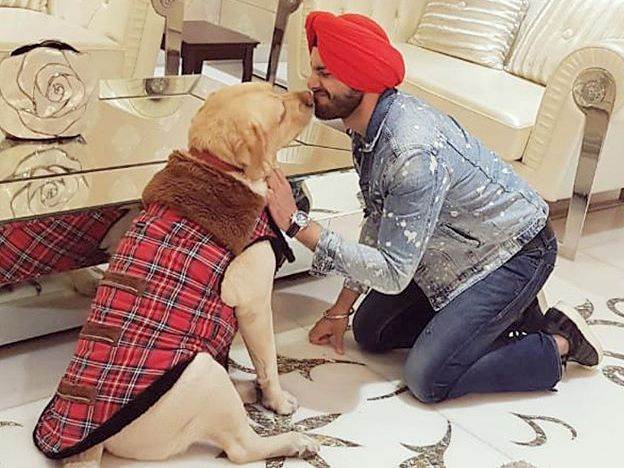 Shehzad Deol with his pet dog