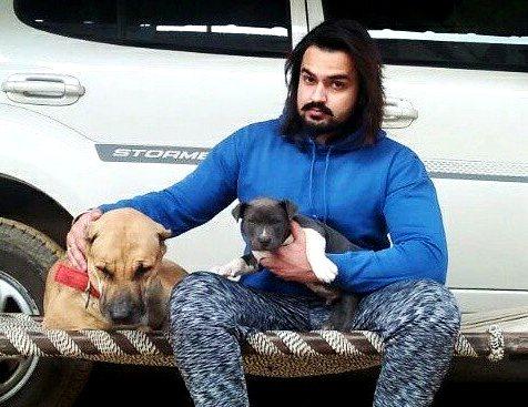 Veer Sahu is an animal lover
