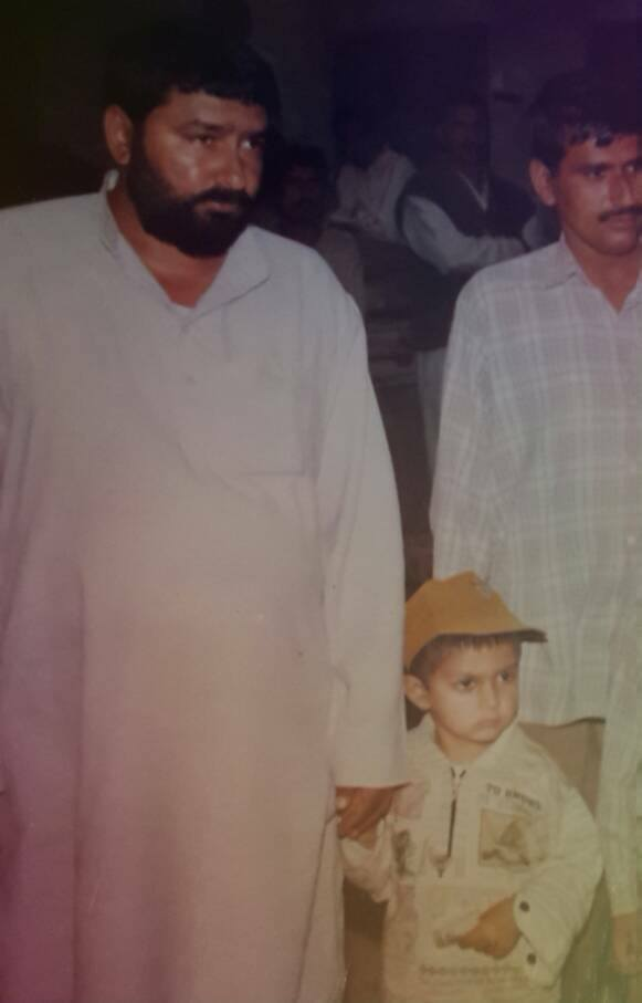 Veer Sahu with his father