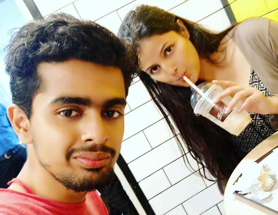 Sumati Singh with her brother
