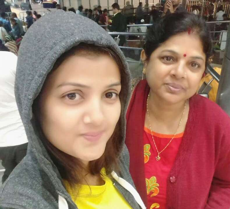 Sumati Singh with her mother