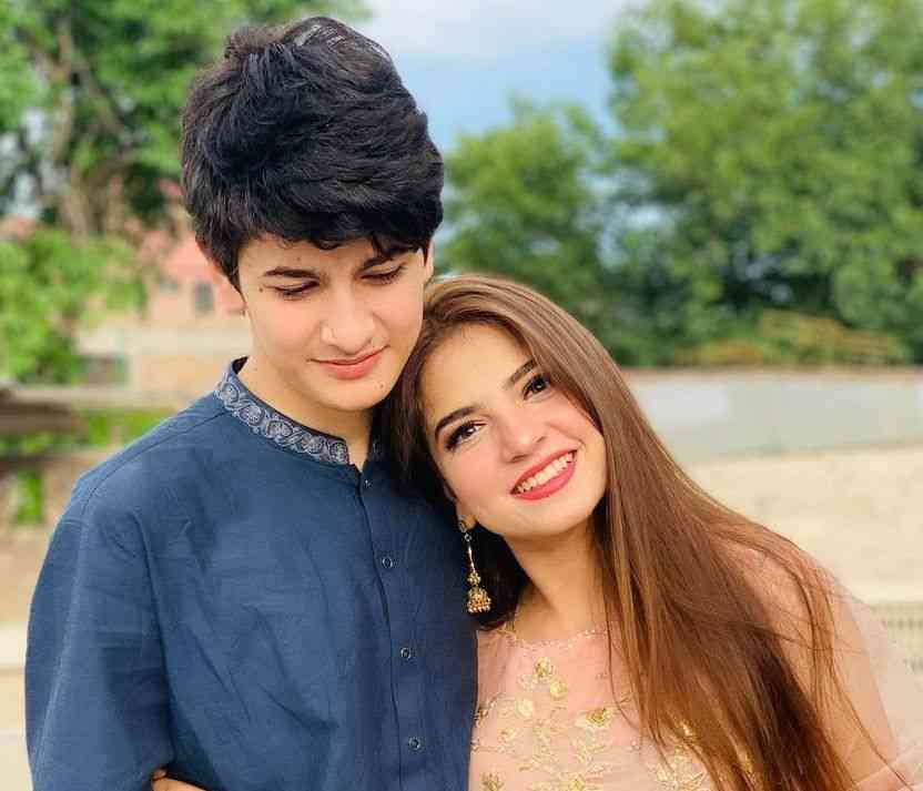 Dananeer Mobeen with her brother