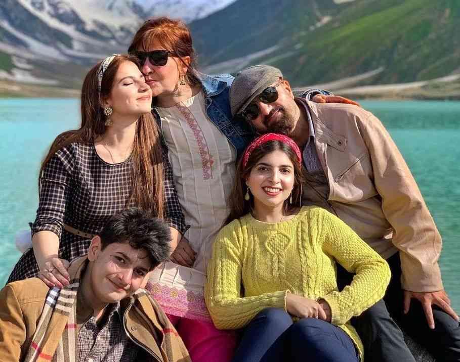 Dananeer Mobeen with her family