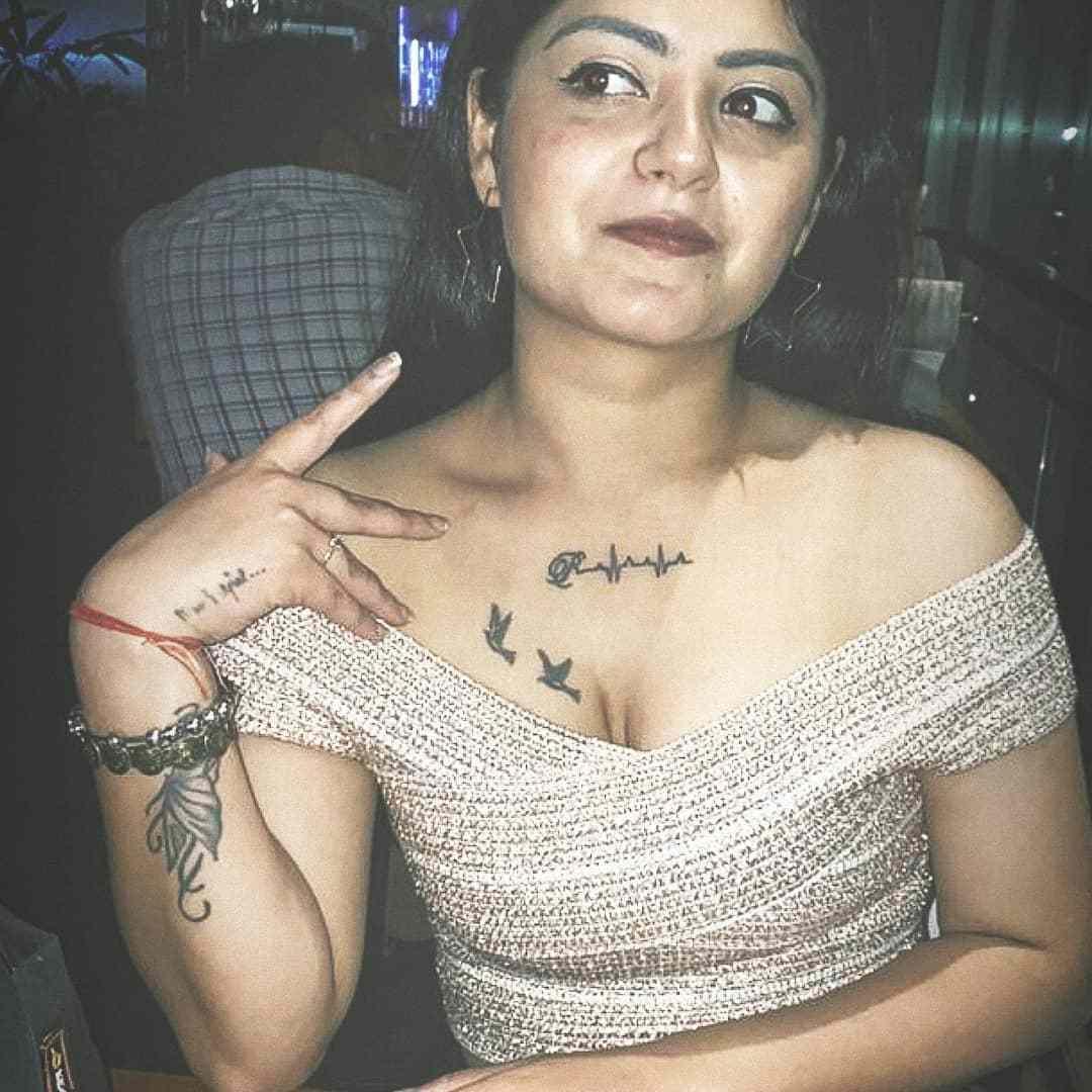 Shreya Tyagi tattoo