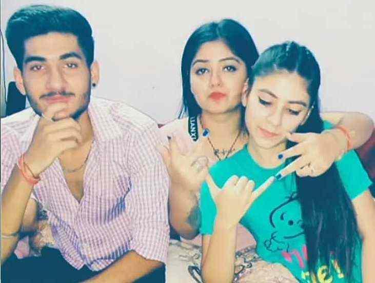 Shreya Tyagi with her brother and sister