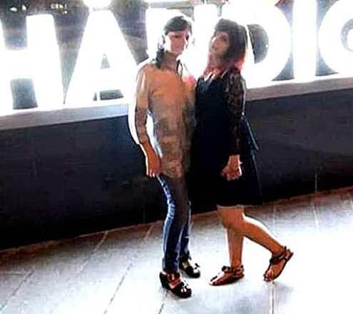 Shreya Tyagi with her mother