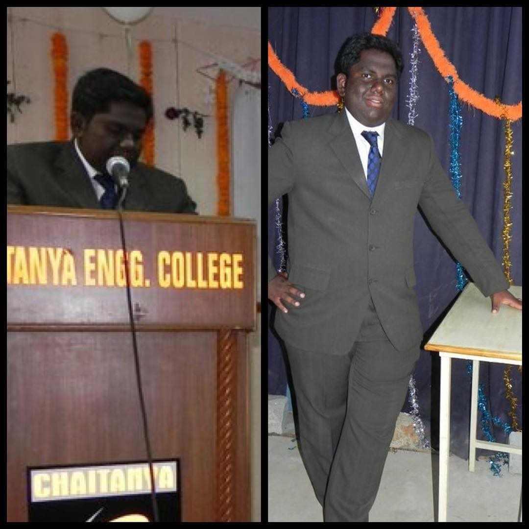 Harsha Chemudu in the college