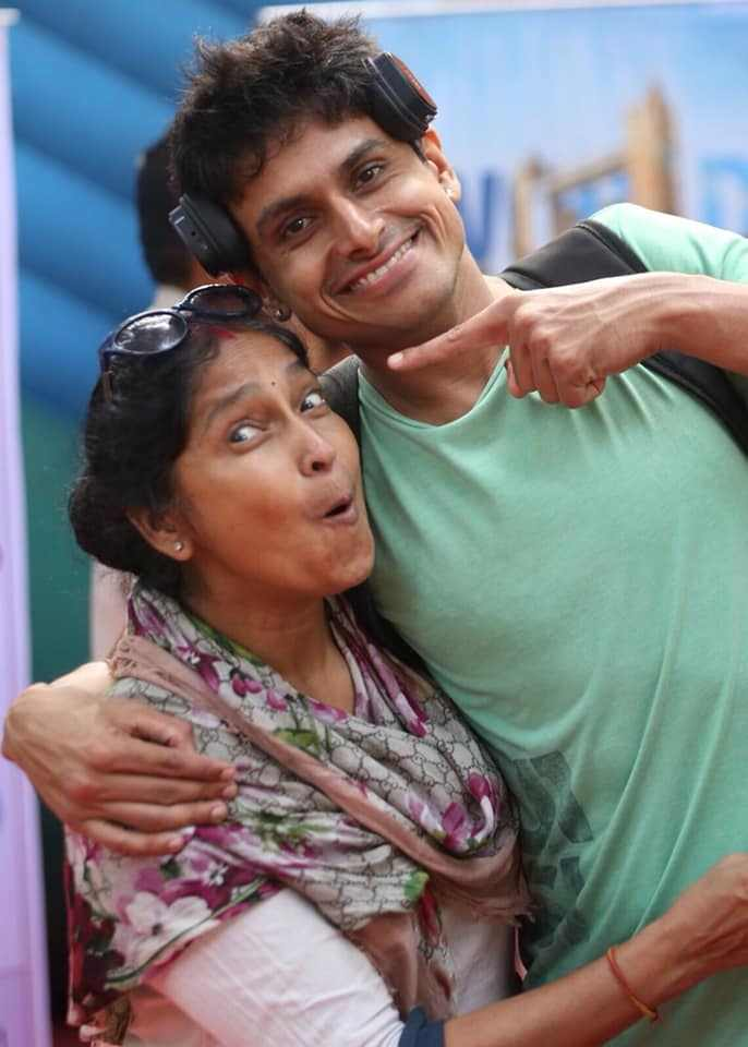 Nupur Shikhare with his mother