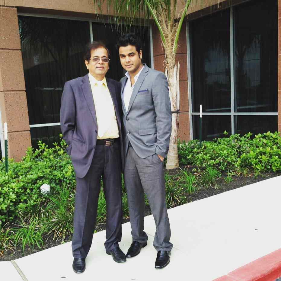 Rohit Gupta with his father