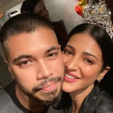 Santanu Hazarika with Shruti Haasan