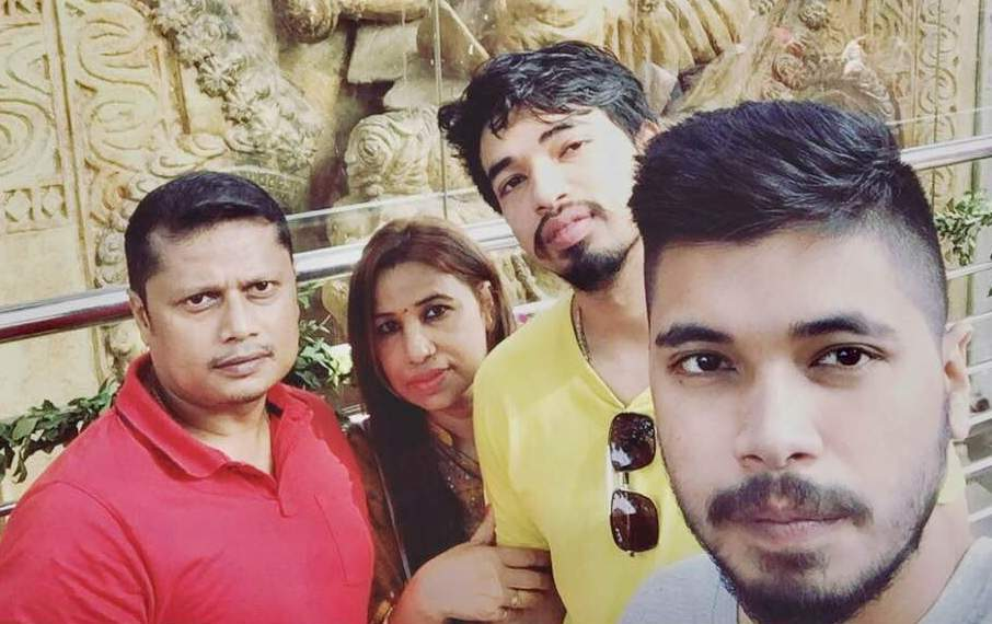 Santanu Hazarika with his family