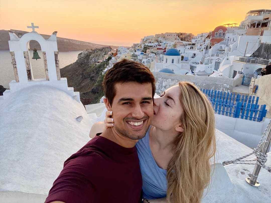 Julie Lbr with her boyfriend Dhruv Rathee