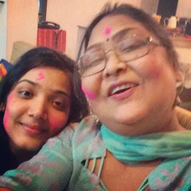 Medha Shankar with her mother