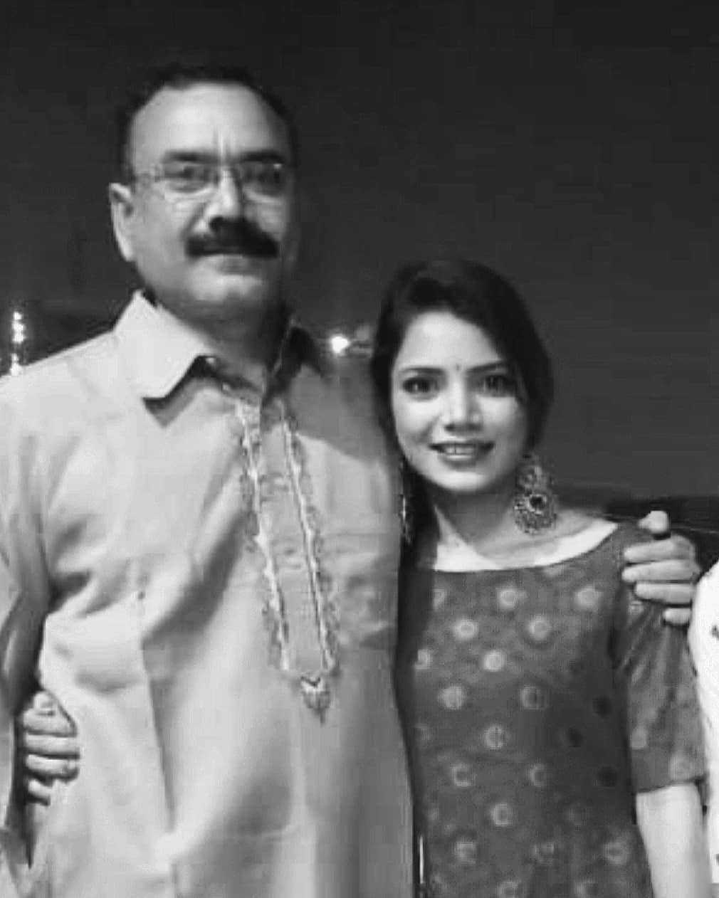 Palak Singh with her father
