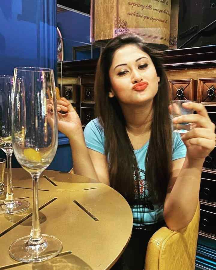 Priyanka Biswas drinking alcohol