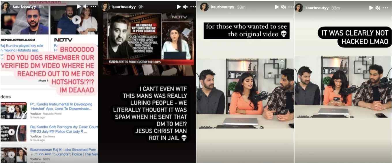 Puneet Kaur Instagram stories