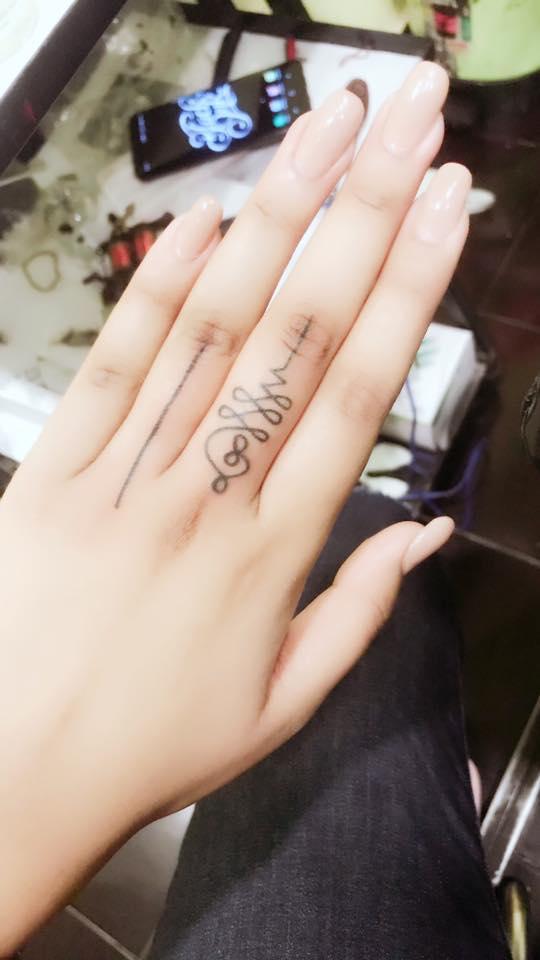 Munmun Dhamecha tattoo